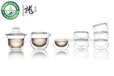 Double Wall Clear Glass Chinese Gongfu Tea Set * 8 pcs