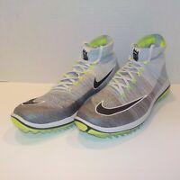 Nike FLYKNIT ELITE DF Dynamic Fit Golf Shoes GRAY VOLT 844450 002 Men Size 11.5