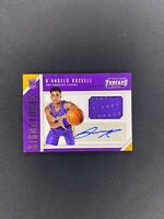 2015-16 Panini Threads D'ANGELO RUSSELL RJA Jersey Auto /199 SP Rookie RC