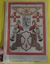 ANCIEN DÉCOUPIS CHROMO CONSTRUCTION LE CHAR ROMAIN 1921
