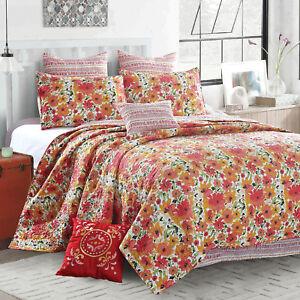 Virah Bella 5pc Quilt Set Full/Queen King Size Blanket 2 Pillows & 2 Shams Match