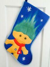 18 In Christmas Holliday Stocking Blue Yellow Good Luck Trolls Dreamwork