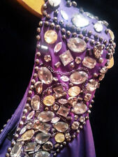 Women's Purple Jeweled One Shoulder Cocktail Formal Party Club Dress Size SMALL