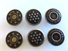 5 x 17mm Jeans Buttons Denim Stud Button Gun Metal Bronze Pins Hammer On No Sew