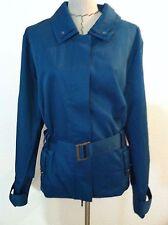 New Motto 26W woman plus jacket hidden zipper teal blue pockets trench size