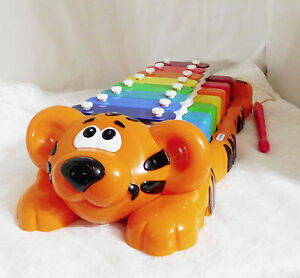 """Little Tikes Tiger Xylophone Piano Combination #T59H031  Approximately 15"""" Long"""