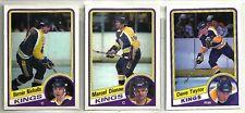 1984-85 O-Pee-Chee Hockey 12-card Los Angeles Kings Team Set   Bernie Nichols