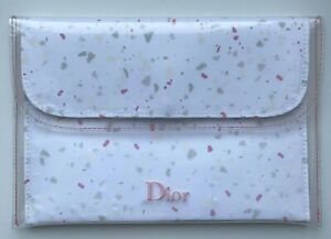 DIOR COSMETIC/MAKEUP BAG POUCH CLUTCH CLEAR WHITE VIP GIFT