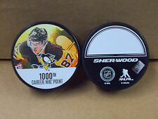 Sidney Crosby 1000th Career Goal NEW 2017 NHL Team Penguins Model Hockey Puck