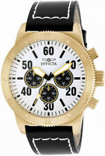 Invicta Specialty 16756 Men's Round White Analog Chronograph Leather Watch
