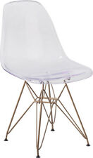 Ghost Chair with Gold Metal Base