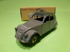 DINKY TOYS 24 T CITROEN 2 CV 2CV  - GREY 1:43 - GOOD CONDITION