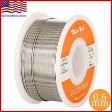 "60/40 Tin Lead Rosin Core Solder Wire Soldering Sn60 Pb40 Flux .023""/0.6mm 4oz"