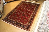 7' X 10' GENUINE HANDMADE Rug Tribal Traditional Hand knotted red background