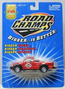 CHEVROLET S-10 - ROAD CREW - PICKUP - RED - 1/43rd - BLISTER CARD - ROAD CHAMPS