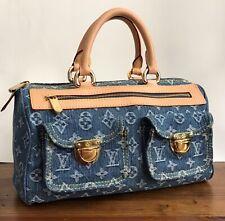 LV Louis Vuitton Neo Speedy Denim Monogram Handbag, Excellent Condition