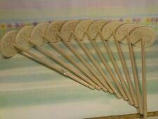 10x Handspindel Schaf Spindel 8x30cm 31g zum spinnen von Wolle Hand Spindel