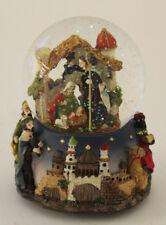 Schneekugel Spieluhr mit Krippenszene + Musik Weihnachten Wurm (11243)