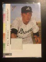 2003 Topps Gallery PHIL NIEKRO Rare BRONZE BASEBALL CARD Atlanta Braves Patch