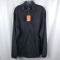 Elevate Sports Pullover Shirt Jacket XL Black 1/2 Zip Lightweight Windbreaker