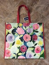 NEW Marshalls Large Shopping Tote Bag ~Flowers In Bloom~ Reusable EcoFriendly