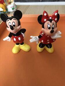 "Mickey And Minnie 4"" Figurines"
