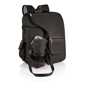 Picnic Time Brand Turismo Insulated Backpack Cooler, Black