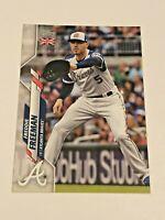 2020 Topps Baseball UK Edition Base Card - Freddie Freeman - Atlanta Braves