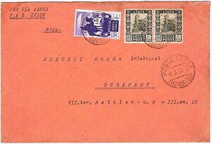 Libya / Italy: Scott, Cyrenaica C6 with overprint LIBIA on Cover 1937