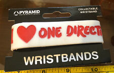 I Heart One Direction 1D White Red Bracelet Wristband Rubber Official New