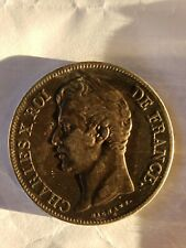 N .FRANCE. Ancient to 1800's. CHARLES X ROI DE FRANCE 1827 A , 5F