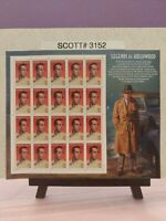 Scott # 3152-Legends of Hollywood-Humphrey Bogart- Sheet of (20) 32 Cent Stamps