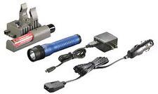 Strion LED HL Rechargeable Flashlight with 120V AC/12V DC PiggyBack Charger, Blu