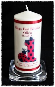 Baby's 1st Birthday candle personalised gift | Cellini Candles  #6