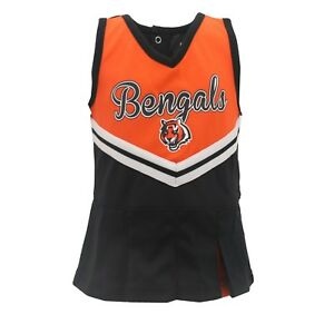Cincinnati Bengals NFL Infant Toddler & Youth Cheerleader Outfit with Bottoms