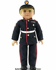 USA  Marines Formal Suit 3 PC 18 in Boy Doll Clothes Fits American Girl