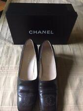 b3e1308c183 Designer 100% Authentic Chanel Dark Brown Loafers size 38