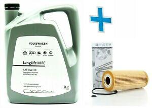 Service Kit 1.9 TDI Golf Beetle Bora Caddy Passat Oil Filter + 0W30 Longlife 5L