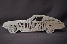 Vintage 1963 -67 Corvette Stingray Coupe  Wood Puzzle Car Toy