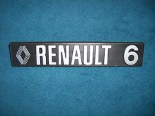 Emblema/BADGE RENAULT 6 ca. 185 x 35 MM, 2 PERNI DI FISSAGGIO PIN