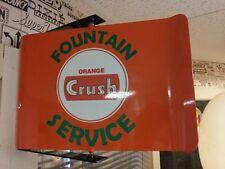 ORANGE CRUSH VINTAGE ERA STYLE SPINNING WALL MOUNT ADVERTISING SIGN