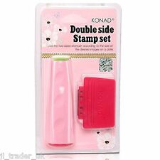 KONAD Stamping Nail Art Double Ended Stamper Scraper Set Hot Lass Fashion GBT