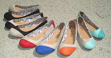 NEW WOMEN'S GISELLE FAUX SUEDE BALLET FLATS CASUAL SHOES