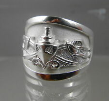 US NAVY Licensed ESW ENLISTED SURFACE WARFARE STERLING RING NEW! SIZE 10.5