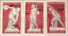 Gabon Gabon 1972 489-91 c134-36 Olympics Munich Ancient statues ORO WINNER OVP