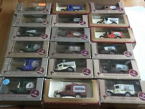 Job Lot of 18 pieces Lledo View Vans, Derbyshire and Lincolnshire locations
