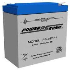 BATTERY NATIONAL POWER GS026R3,GS260R3W1,GSA26R3,GSA26RMP, PS-682F1 6V 9AH EACH