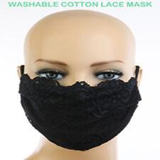 39 (THIRTY-NINE) Women's Black Lace Cotton Face Masks