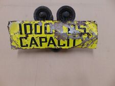 Vintage Saginaw Michigan USA 1000 lbs engine hoist trolley sign eye beam track
