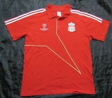 The Reds FC LIVERPOOL Champions League Polo shirt jersey ADIDAS 2009-10 adult L